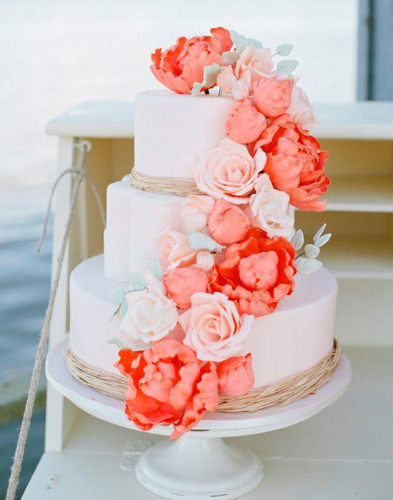 Coral Cake Inspiration ~ Debra Eby Photography
