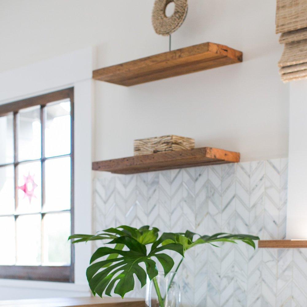 Jodi G Designs Santa Barbra Interior Designer | Spring Interior Design Trends | Open Shelving