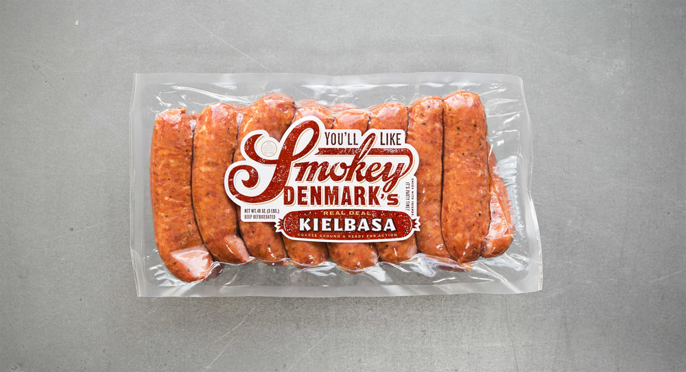 "Kielbasa  It's the Polish word for ""sausage,"" and we consider ours the real deal. Three pounder!"
