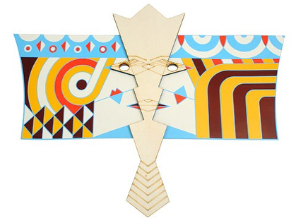#HappyPurim !  The Vashti / Esther flag is waved during the reading of the Megillah on Purim when either of the queens are mentioned. This modern tradition honors the role of these powerful women at the forefront of the events of Purim.  These flags by @judaica_by_armadillo serve dual purpose as flags and masks. The designs reference the power balance between men and women during the enigmatic sequence of events of the Purim story. The flags are made from laser cut wood and paper, and were created for an exhibit at @neveschechter in 2015. . . . . . . . #purim #purim2018 #esther #queenesther #hamantaschen #megillah #judaica #jewishdesign #jewish #judaicaart #jewishculture #jewishholiday #jewishstyle #jewishart #jewishtradition #design #costumedesign #jewishlife #graphicdesign #kosher #holidaydecor #jews #modernjudaica #lasercut #costumeparty #crafter #modernmensch #powerfulwomen #sheroes