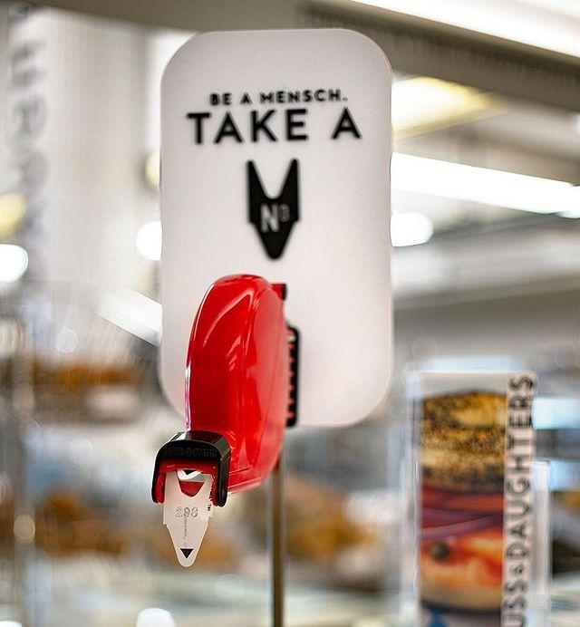 Some more details from the new Russ & Daughters in the BK Navy Yard. Be a Mensch! Take a number... . . . . . . . . #jewishdesign #jewishdeli #jewishdelicatessen #russanddaughters #graphicdesign #restaurantdesign #brooklynnavyyard #interiordesign #brandingdesign #typography #menudesign #jewishculture #jewishfood #jewishfoodie #delicatessen #bagels #bagelsandlox #mensch #jewishtradition #moderndesign #jewishlife #jewishlifestyle #kosherfoodie #judaica #beamensch #whitefish #smokedwhitefish #brooklyn