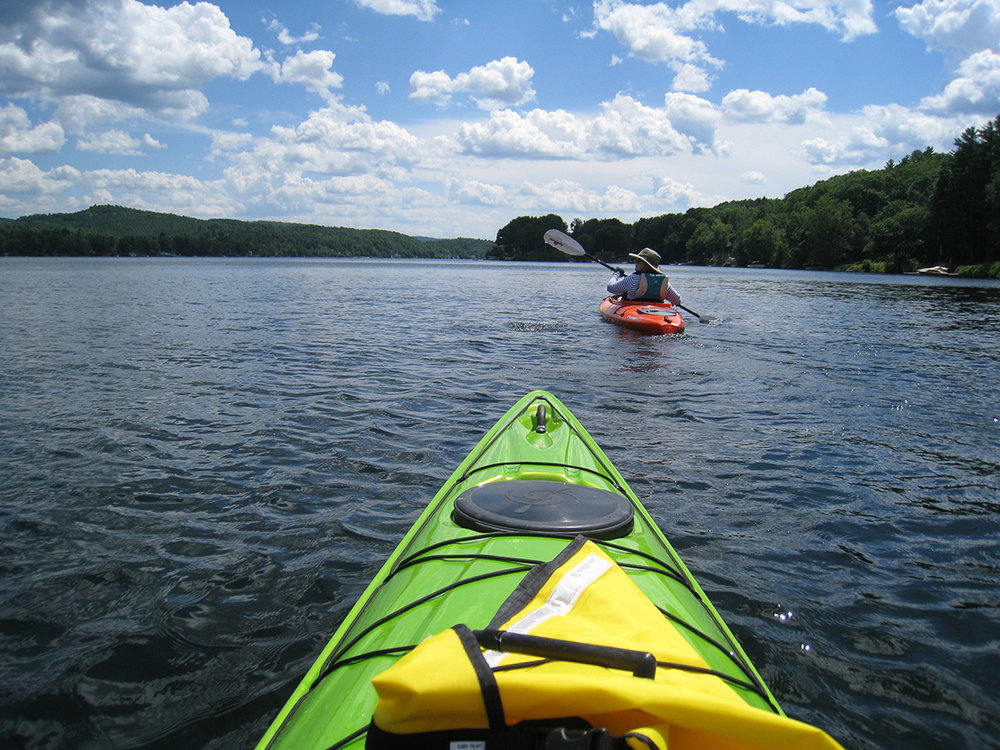 see the lakes by boat  Find a nearby Yoga SUP class, or grab a fishing pole, some worms and go catch dinner!