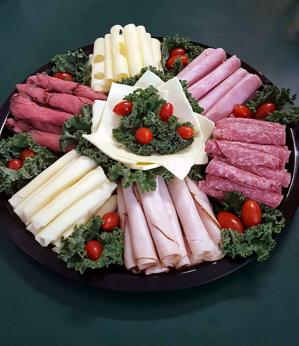 CUSTOM PARTY PLATTERS  Let us know what your party planning needs are and we will customize a selection of fresh foods for you.