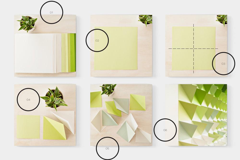 Geometric Backdrop DIY - Macher