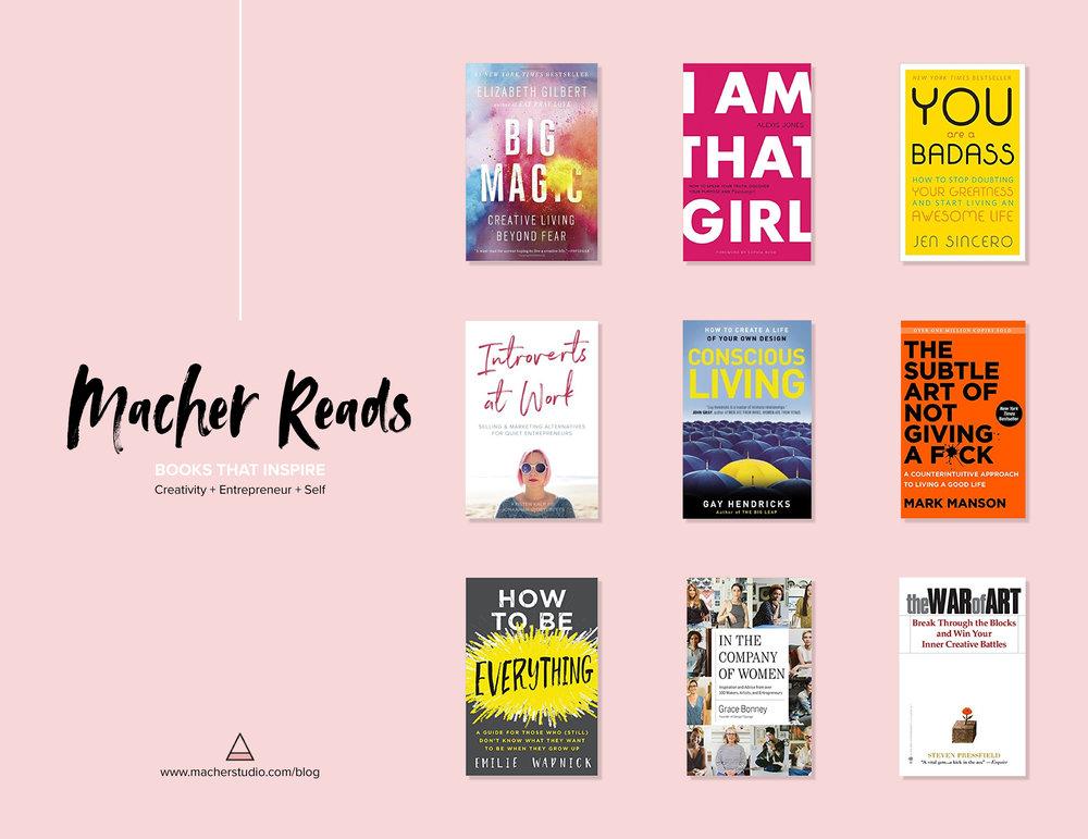 Macher Reads - Books that Inspire - creativity, entrepreneur, self