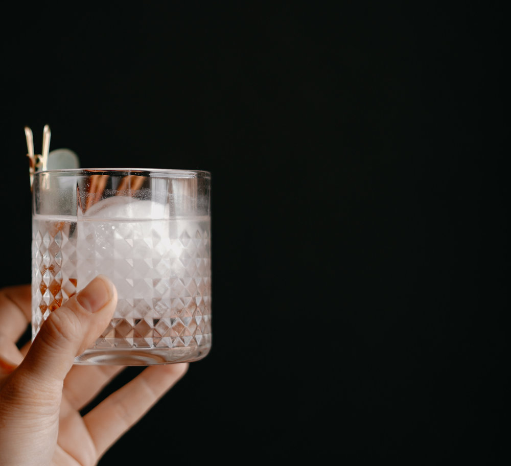 SpicedGin & Tonic - 2 oz The Block Autumn Gin4 oz tonic water1-2 cinnamon sticks1 large ice cube+ Add ice and cinnamon sticks to chilled glass.+ Pour gin into the glass.+ Add tonic water to the glass and stir beforedrinking.