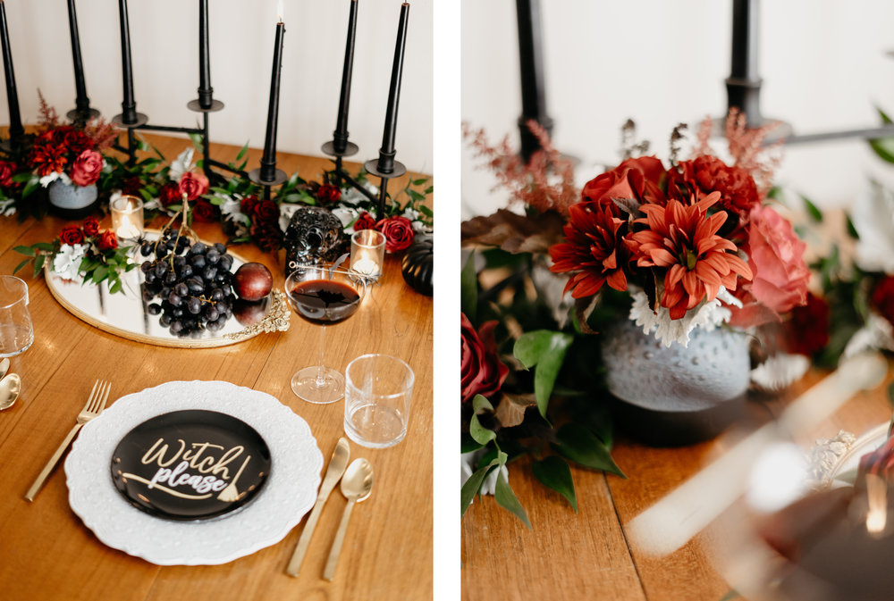 Modern Halloween Tablesetting