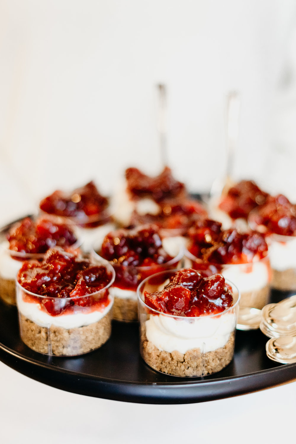 Mini Cranberry Cheesecakes