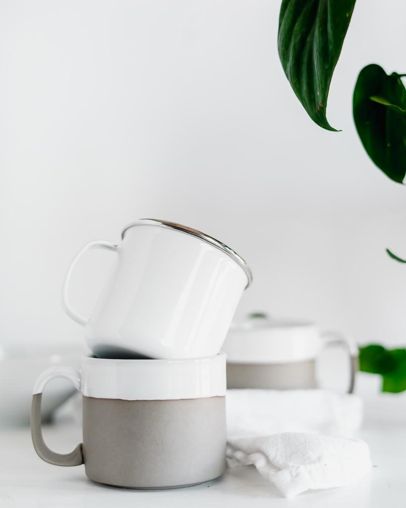 Metal and Ceramic Mugs