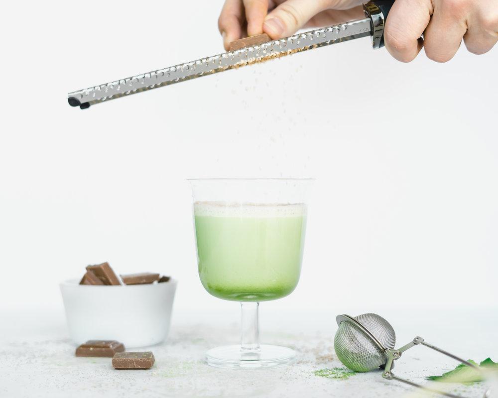 Green Matcha Grasshopper Cocktail