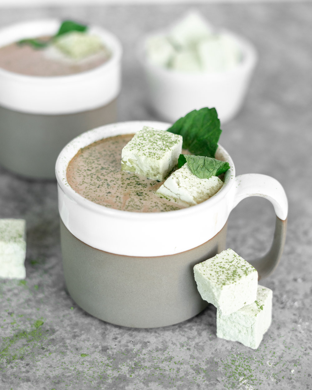 Matcha Marshmellow Hot Chocolate