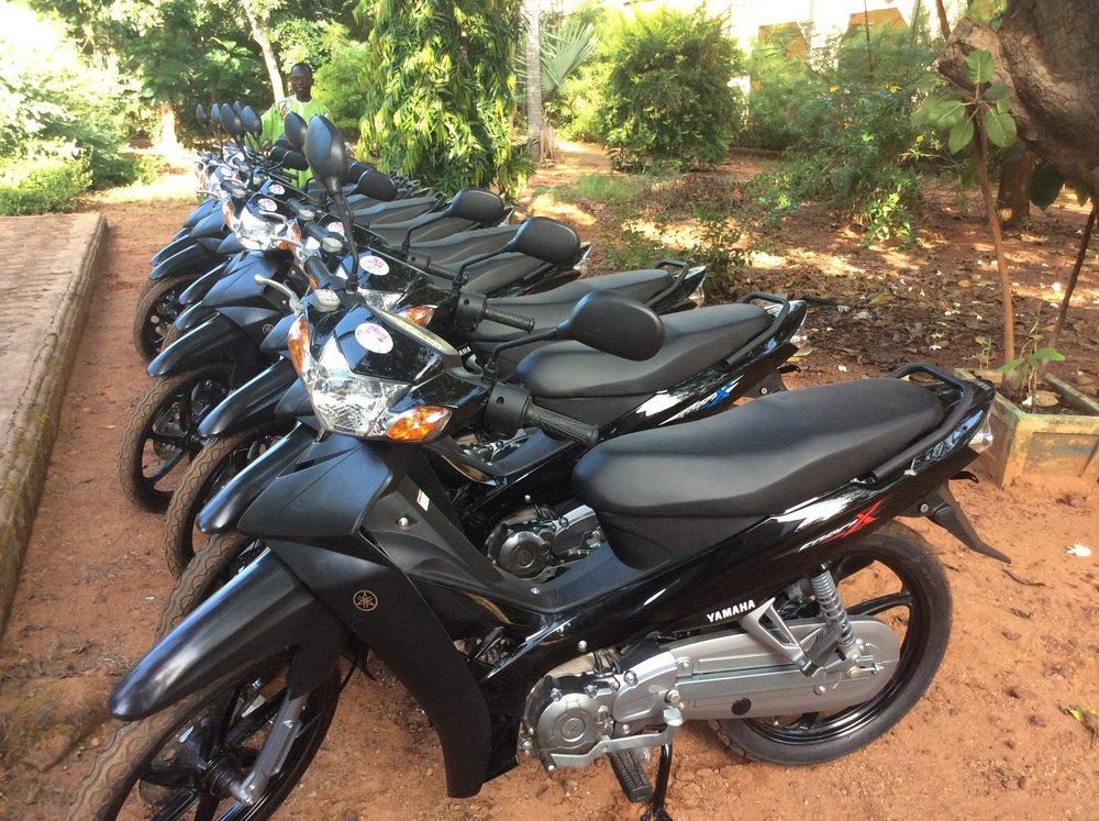Des motos pour le service diaconal