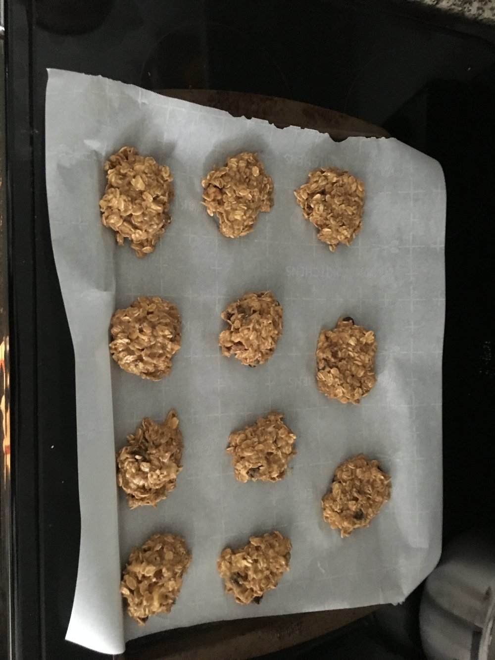 Step 10A: Pretend not to mind that the cookies are not even close to being ball-shaped.