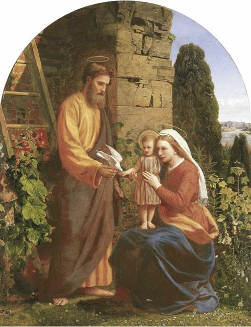 The Holy Family - Public domain image found at CatholicFaithPatronSaints.com