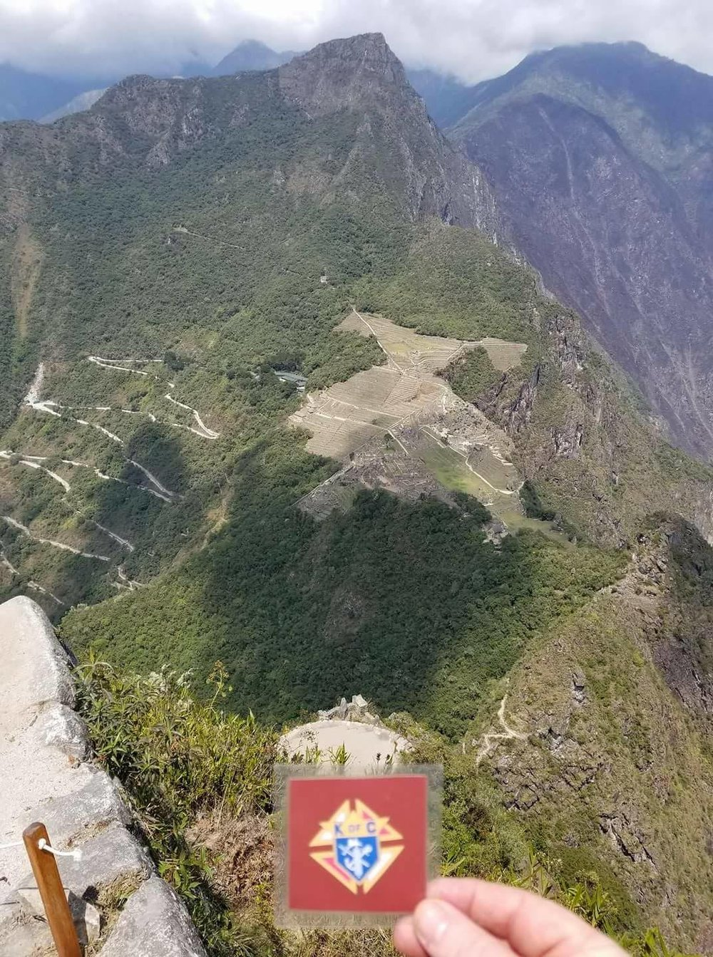 Stuart Brady vacationing in Machu Picchu