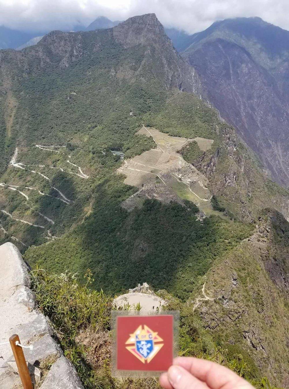 Stuart Brady vacationing in Machu Picchu