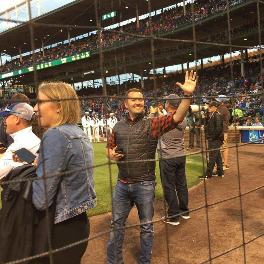 Matt Haggerty living large on Vacation at Wrigley Field