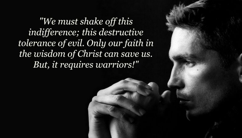 "JIM CAVIEZEL STUNS COLLEGE STUDENTS: ""OUR CULTURE NEEDS WARRIORS!"" - By Fr. Richard Heilman, Roman Catholic Man, January 11, 2018"
