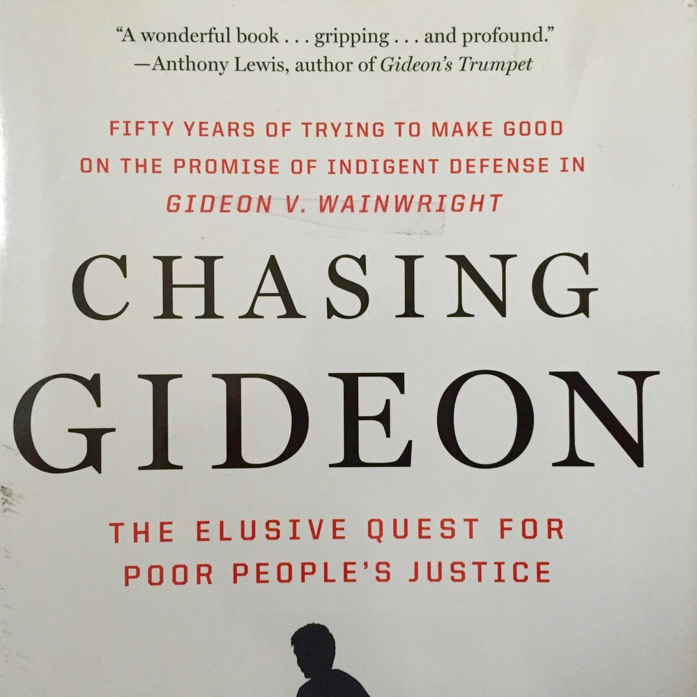 Chasing Gideon was published by New Press in 2013, the 50th anniversary of  Gideon  v.  Wainwright .