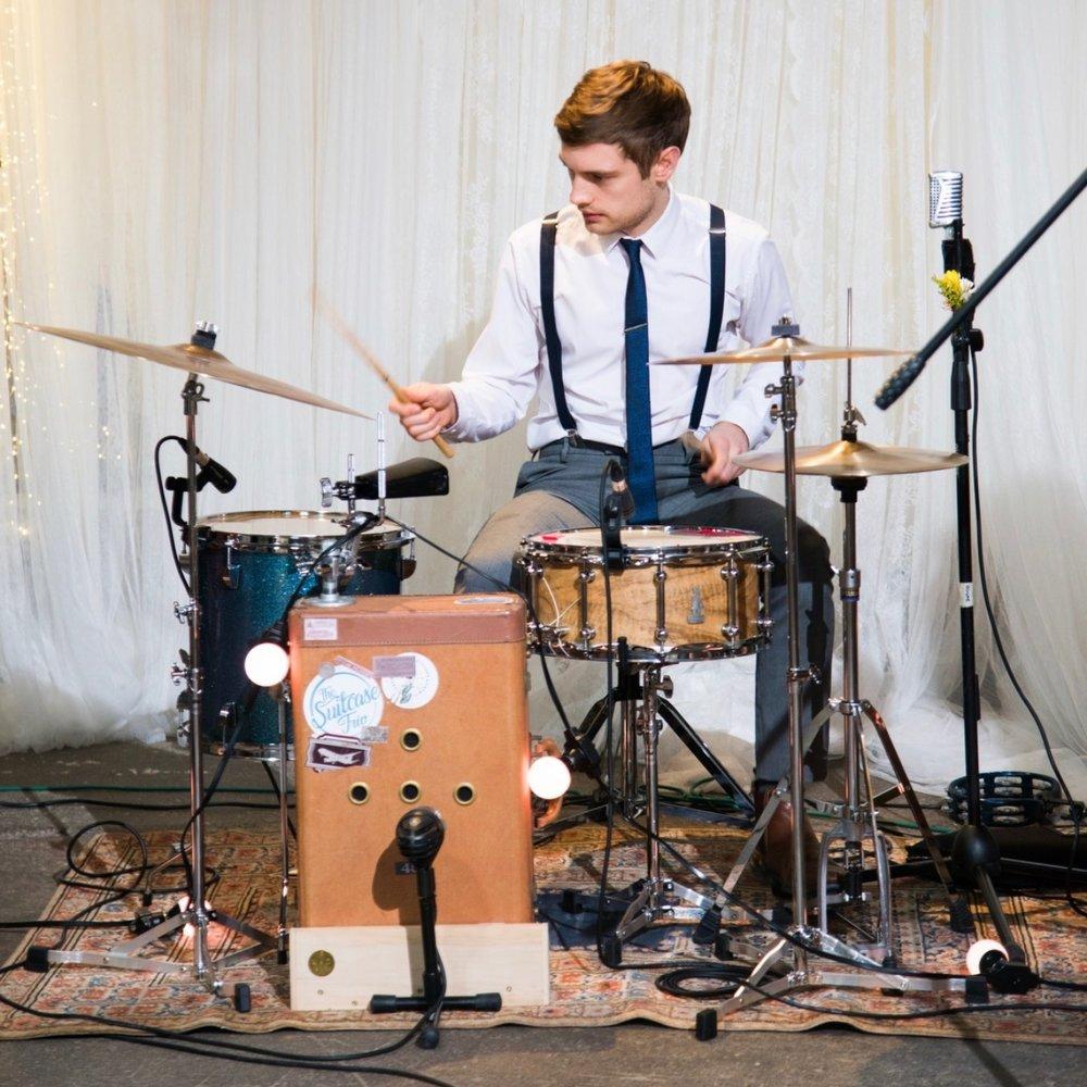 The Suitcase Trio Drums