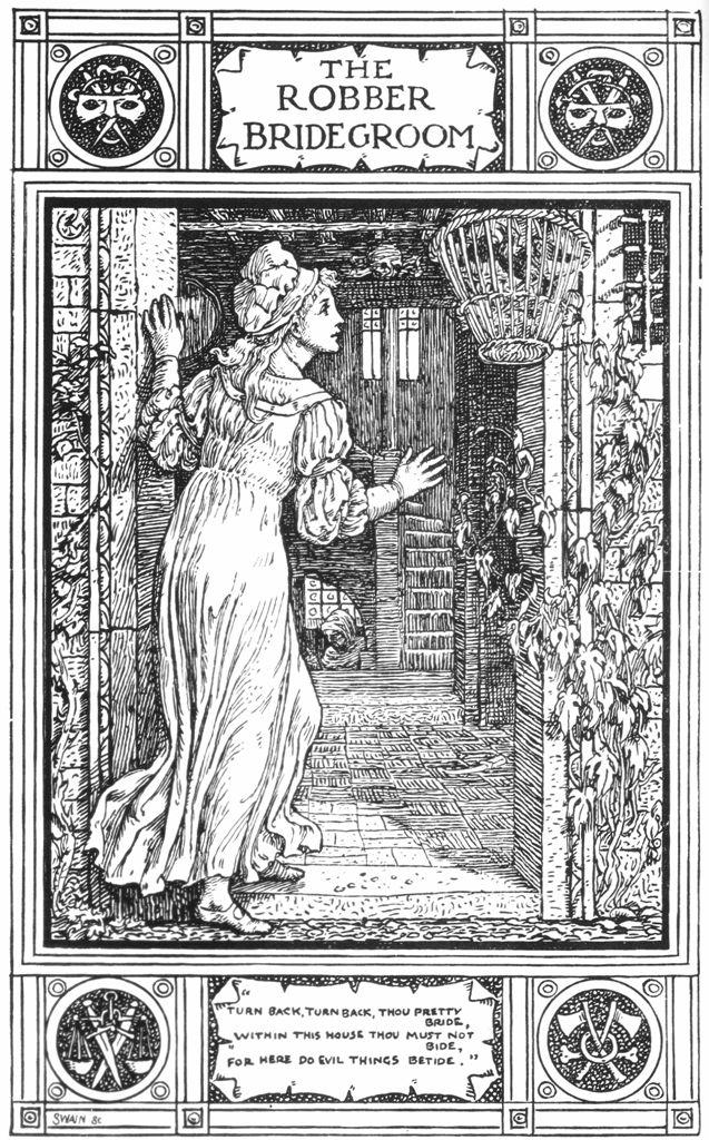 Illustration by Walter Crane (1845-1915) for  Household Stories From The Collection Of The Brothers Grimm,  published in 1882