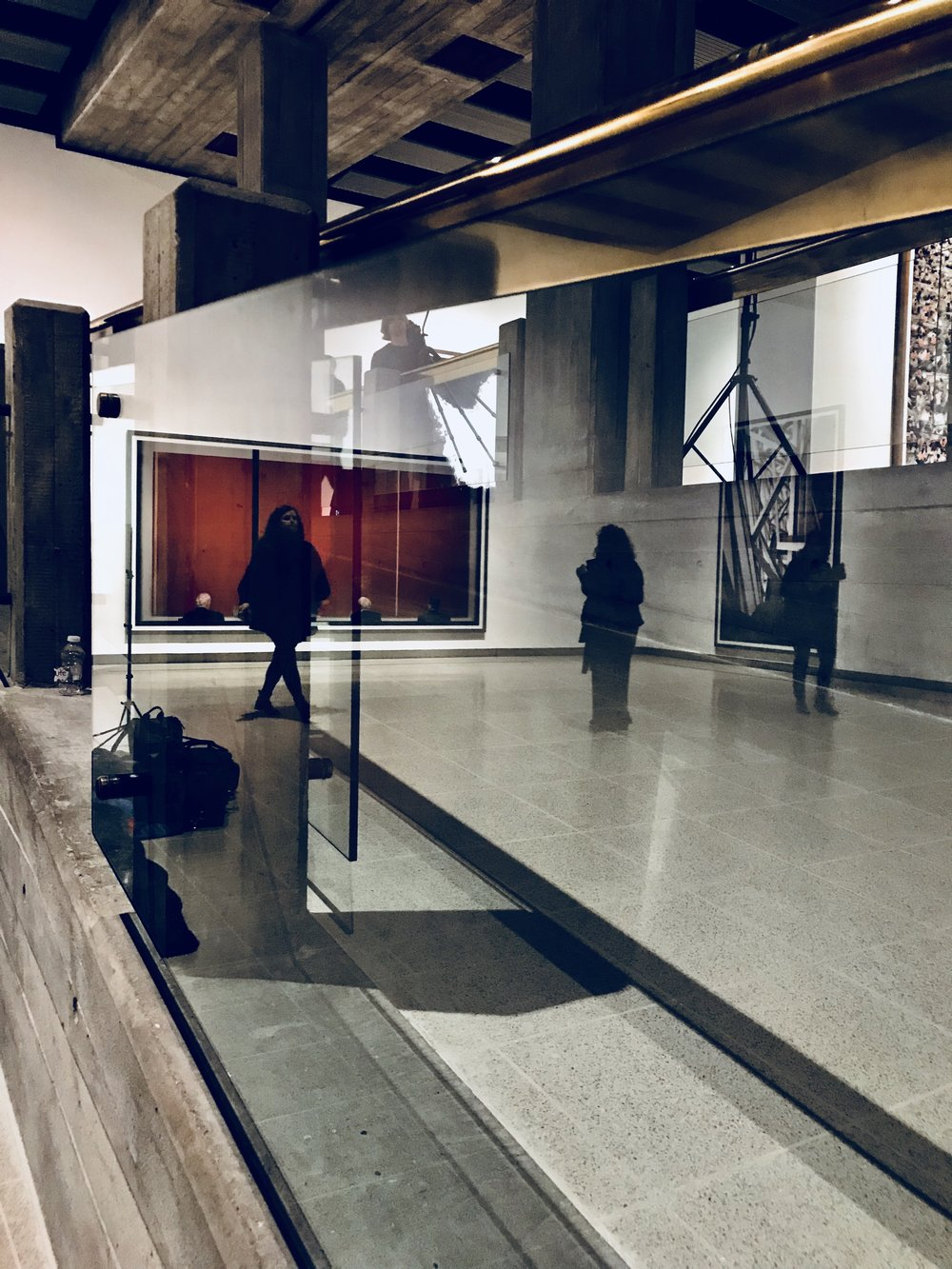 im becoming a reflections addict - the space of the gallery is vast and the combinations of materials used show off the art work superbly without feeling claustraphobic - its a beautiful sense of space