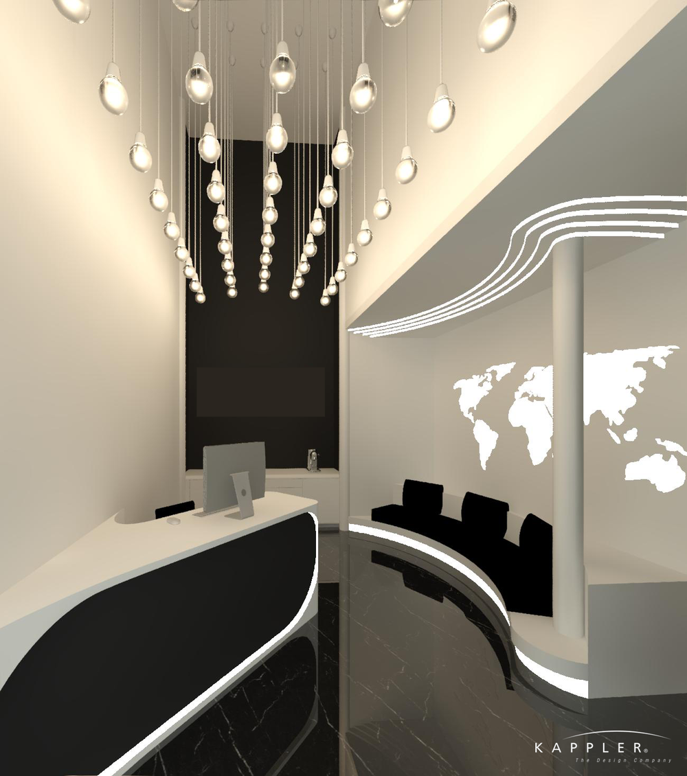 Washington Dental office design - minimalist and modern dental office reception area
