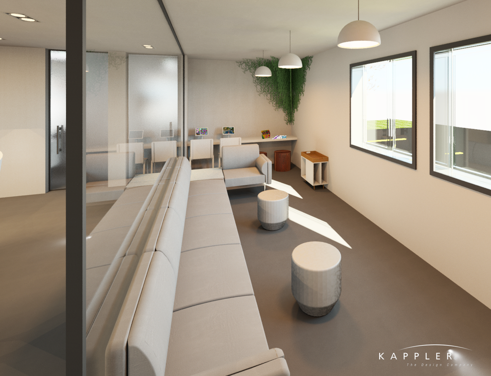 modern dental office design waiting room