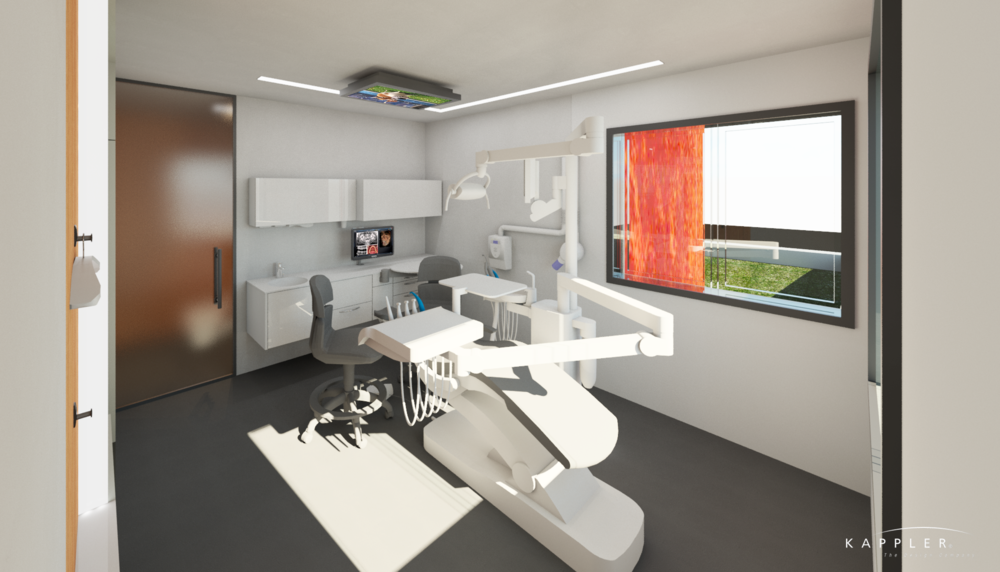 modern dental office operating room