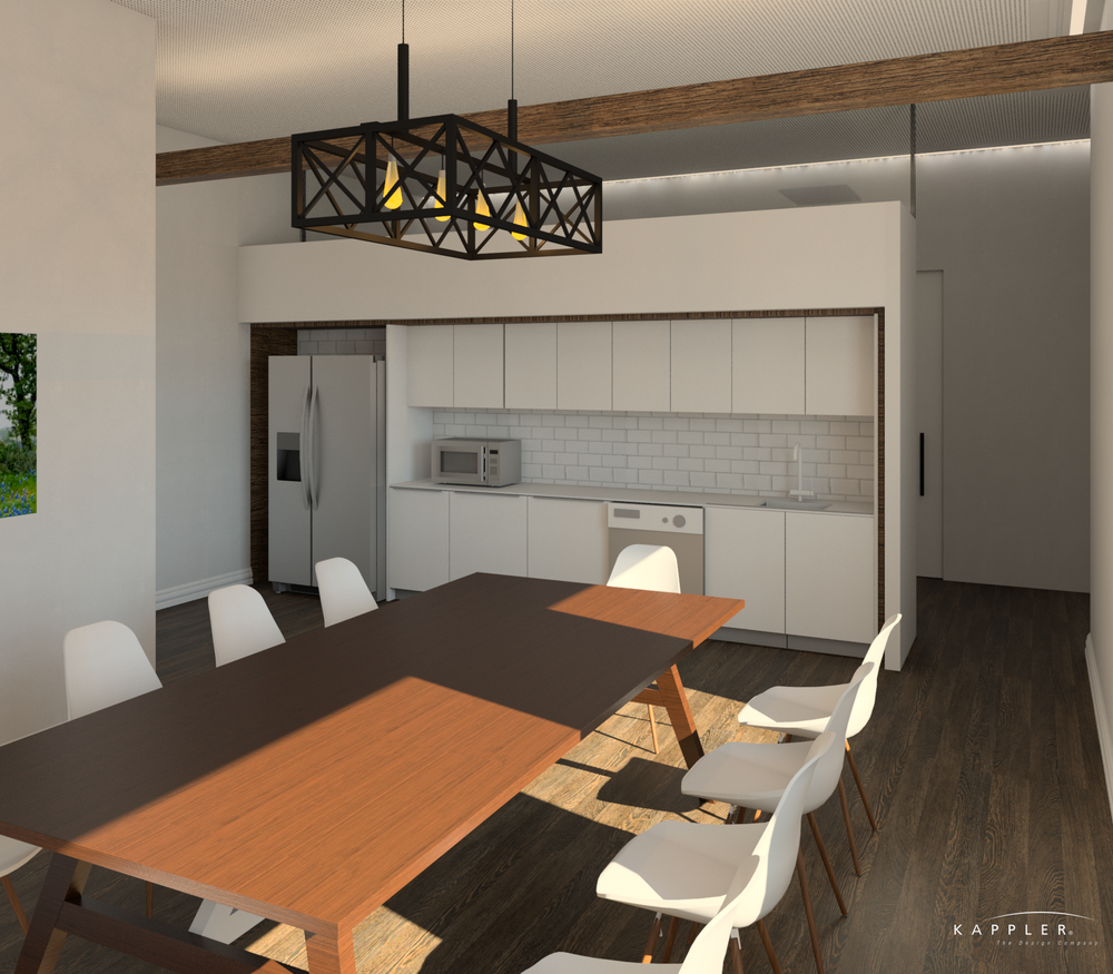 traditional dental office break room design concept