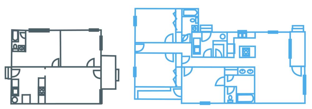Floor Plan: Before & After