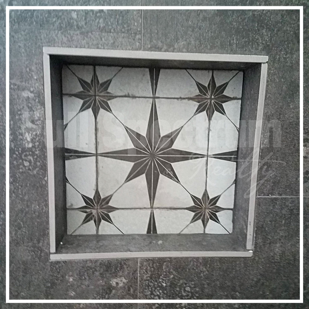 shower nook tile design
