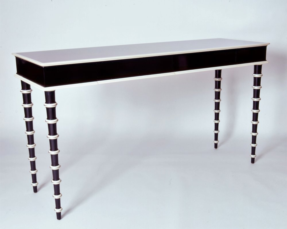 Lacquered Regency Style Console