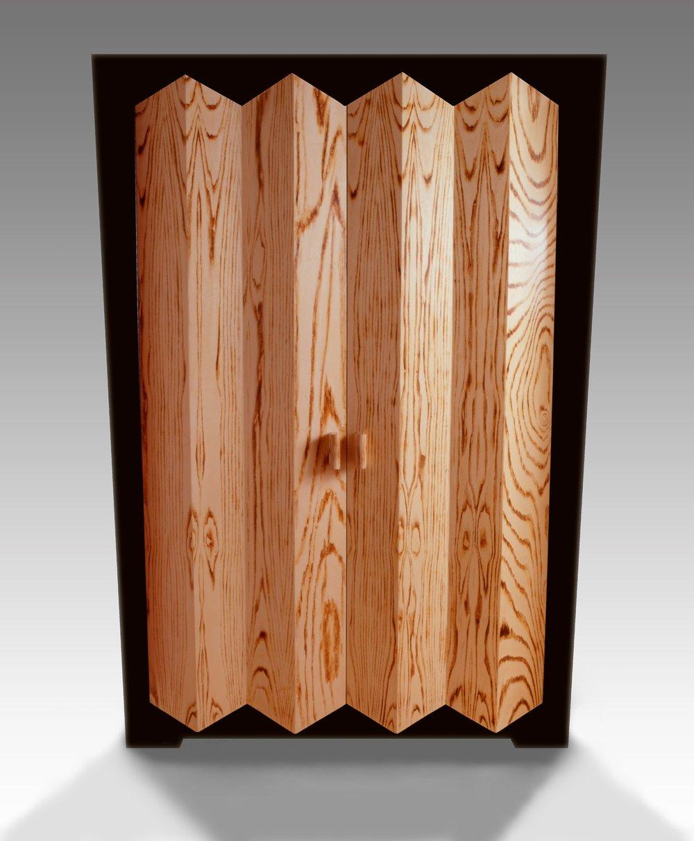 Angular Art Moderne Cabinet