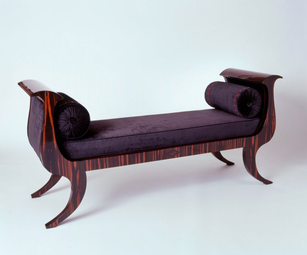 Asian Inspired Macassar Ebony Bench