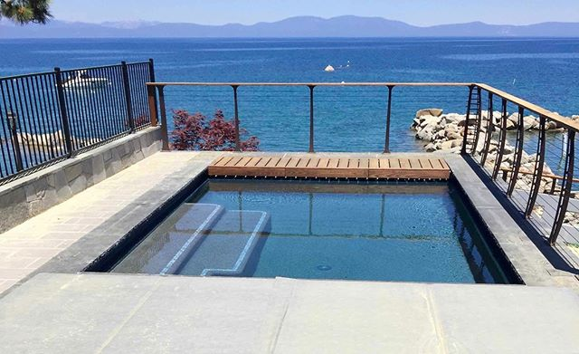 We're ready for Summer in our Zephyr Cove project with this stunning poolside view of Lake Tahoe courtesy of these modern metal-railings from @KeukaStudios. #solannadesign •� •� •� •� #customhome #currentdesignsituation #pooldesign #design #designer #designlovers #homedesign #homeinspiration #homeinspo #homestyle #interiorinspo  #interiordesign #interiordesigner #interiordesignideas #interiordesigninspo #exteriordetails #interiorlovers #exteriorstyle #exteriorarchitecture #luxurydesign #luxuryhome #luxuryexteriors  #moderncraftsman #tahoehomes #modernmountainhome #tahoelove #tahoelife #sierras #welovetahoe