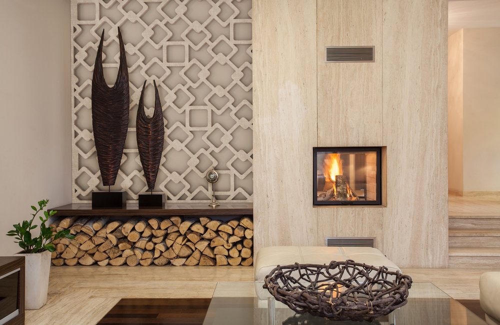 Walnut veneer with wood grain surface - Segovia Pattern