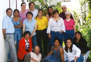 With fellow teachers, Guatemala City, 2003