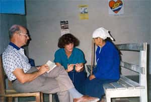 Translating for a medical brigade in western Honduras, 1989