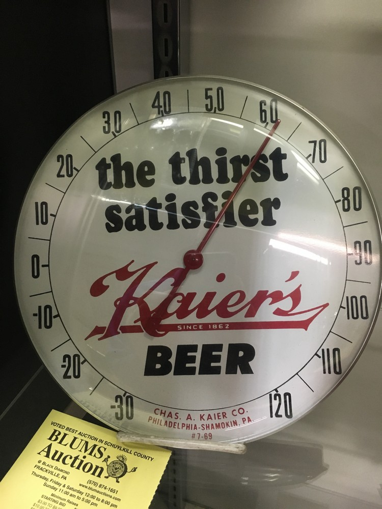Kaier's Beer Thermometer   SOLD January 2018 for $105