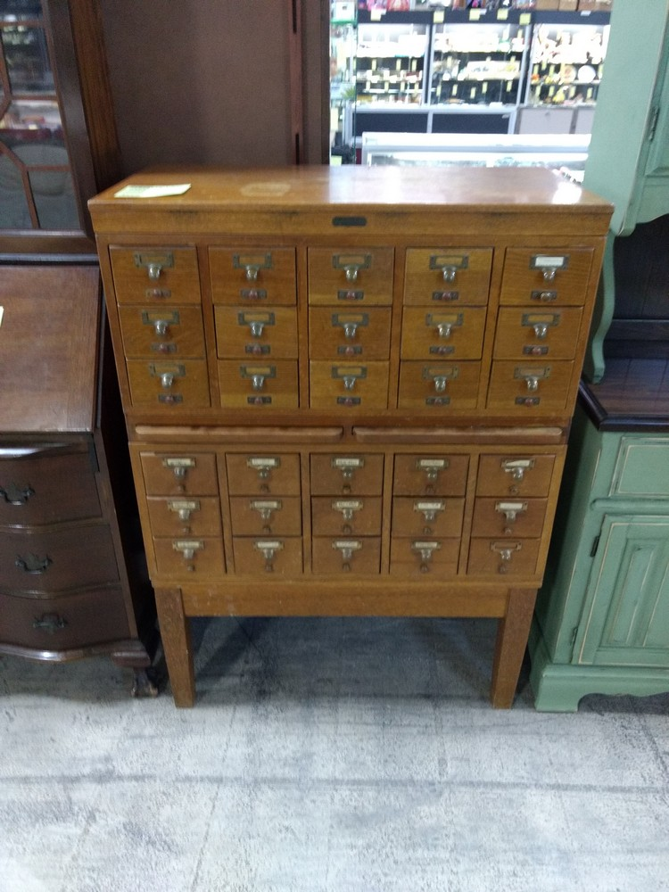 Vintage Card Catalog   SOLD March 2019 for $675