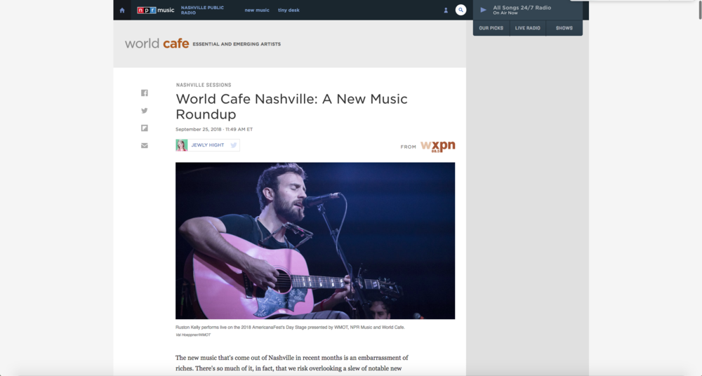 NPR Music: World Cafe Nashville