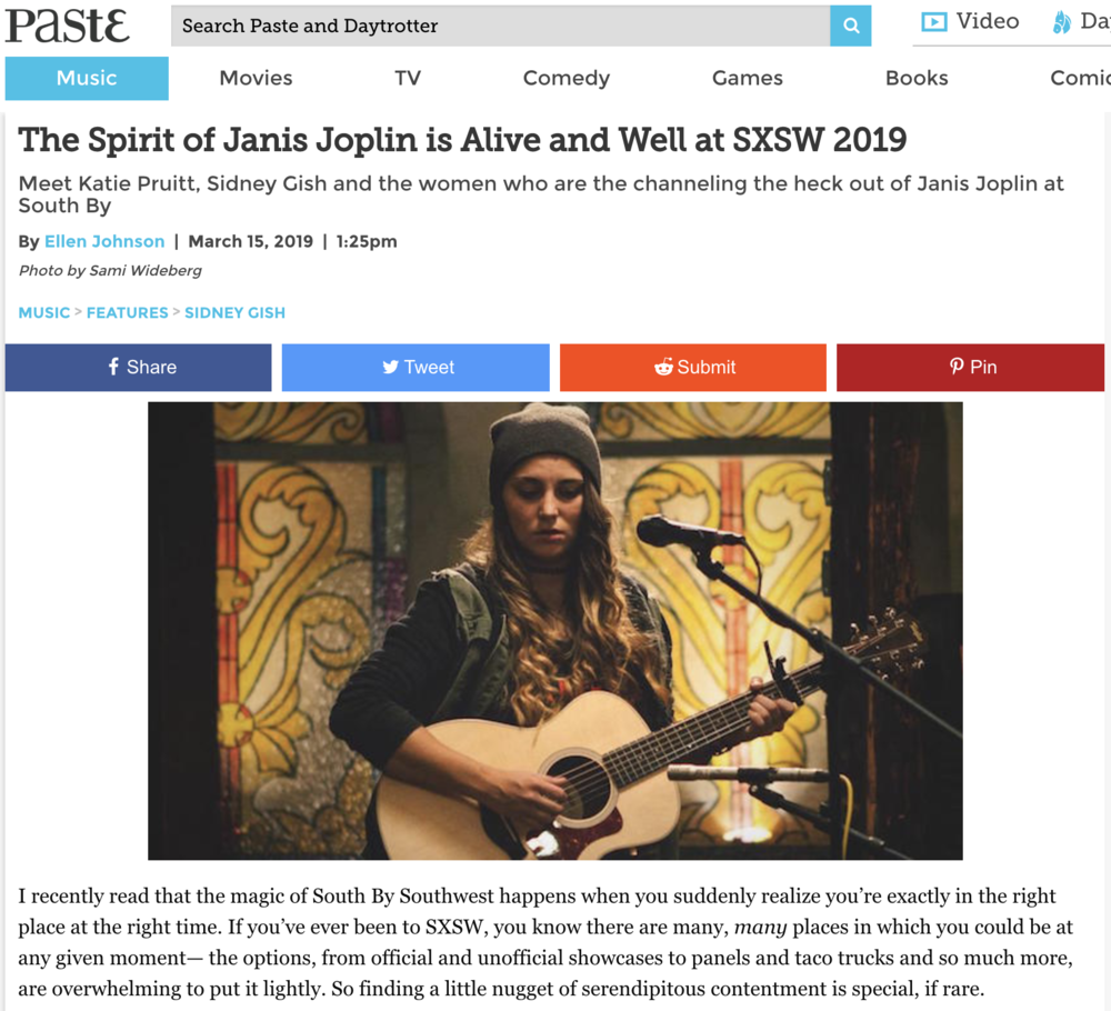 Read about Katie at SXSW!