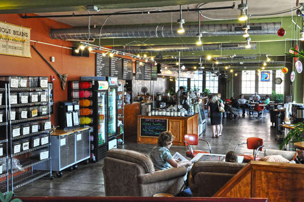 For perspective, the weekend line extends to about where this picture is taken. Photo: Soapbox Media, Coffee Emporium