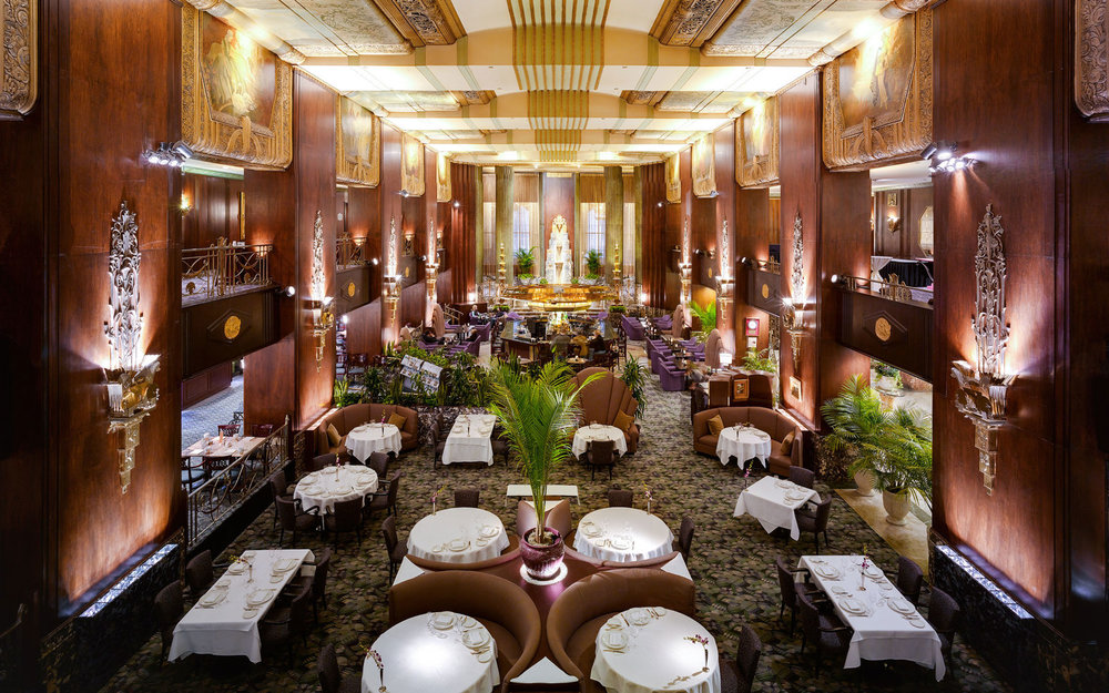 The Netherland Plaza Hotel - 35 W 5th St, Cincinnati, OH 45202W.W. Ahlschlager & Associates, Delano & Aldrich, Rene Paul Chambellan, completed 1930