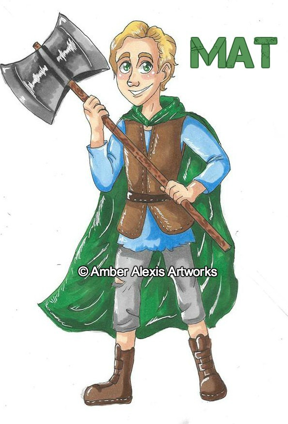 Mat Eanos - Mat is a Casenian from Bethar Forest. He is the only child of a poor woodsman and his wife.Strengths: Faithful friend. Good-hearted. Dependable.Weaknesses: Self-doubt. Slow to action.Weapon of Choice: Battle Axe