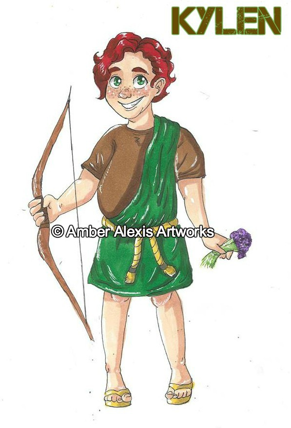 Kylen Sura - Kylen is an Amrian from the Cyrene Swamps. He is a healer and a faithful follower of Jaoel.Strengths: Humility. Faithfulness. Bravery.Weaknesses: Sometimes acts without thinking first.Weapon of Choice: Bow and Arrow