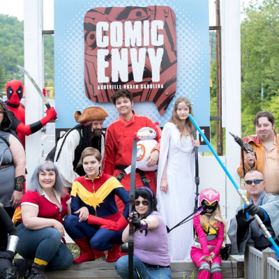Some of our great asheville cosplayers!