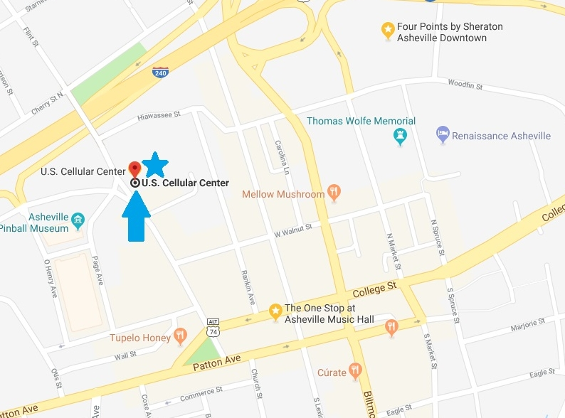U.S. Cellular center Location map