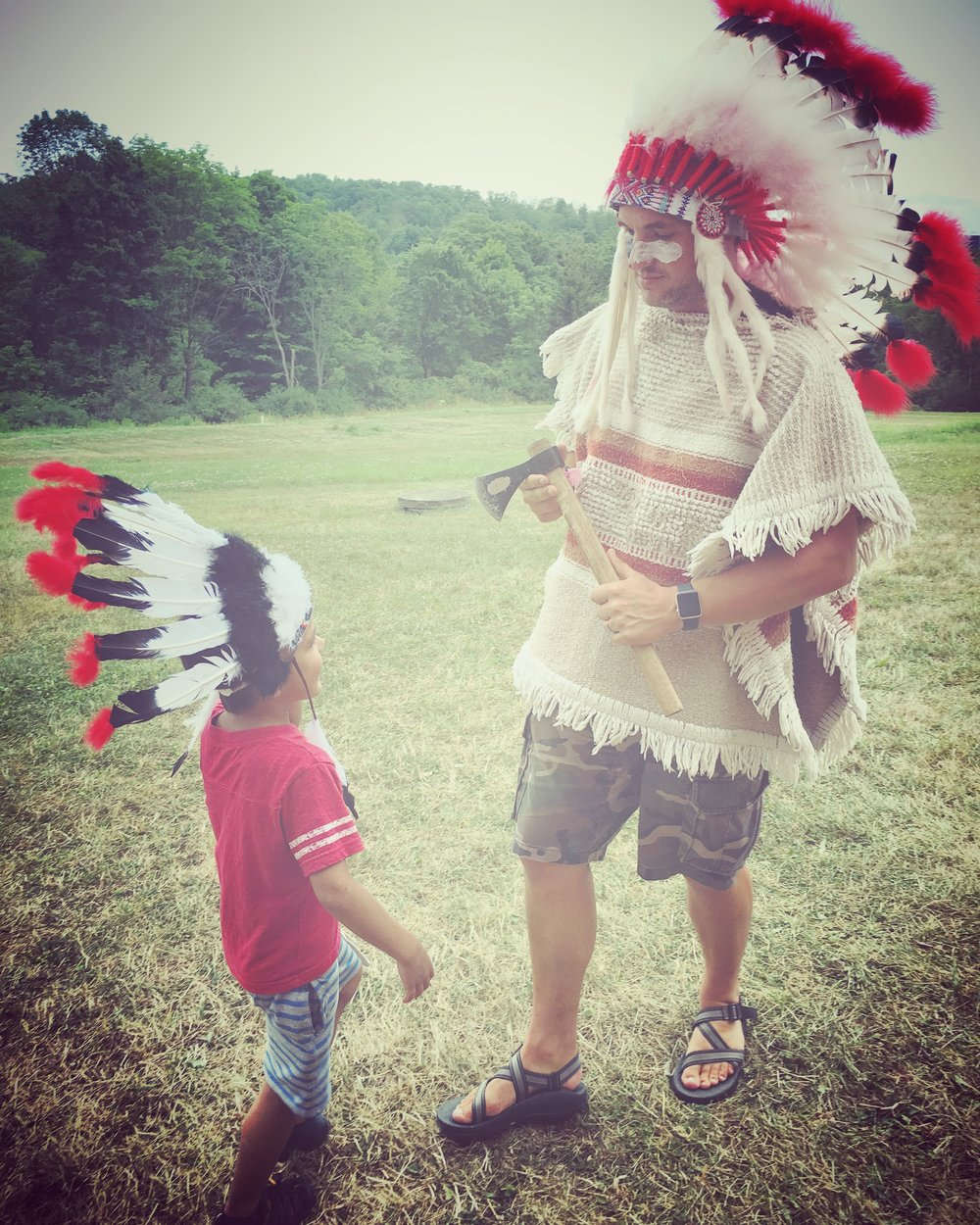 Chief Duane and little Chief (Thad).